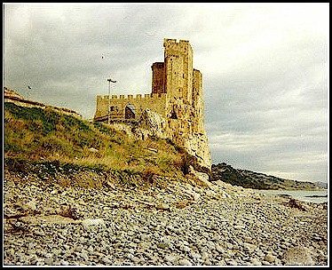 King Frederick II's Castle in Roseto Capo Spulico. Taken along the coastline of the Adriatic, just off of SS 106.