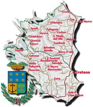 Map of Crotone province
