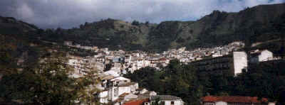 A panoramic view of the town of Mammola