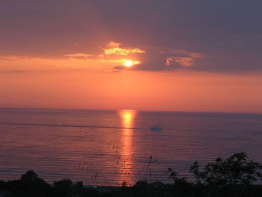 Sunset near Tropea
