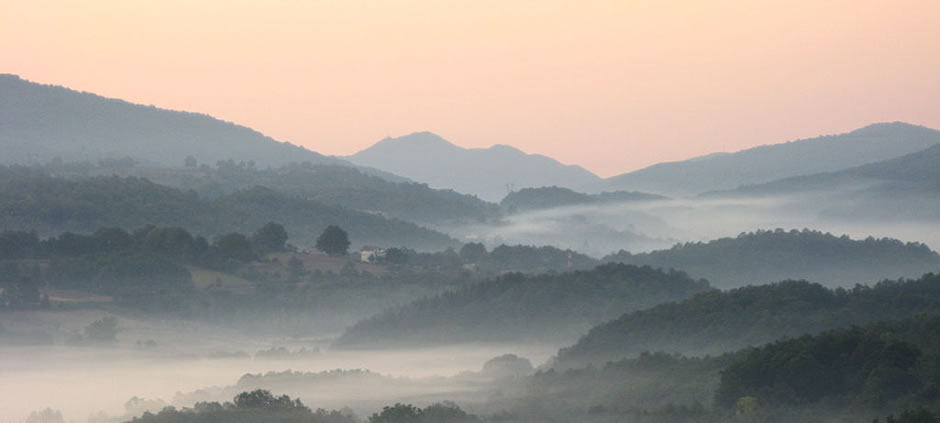 Fog over the Amato river valley<br>Amato (CS), Calabria, Italy